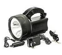 Фонарь аккумуляторный GDLITE GD-2901HP, с мощным светодиодом 3Вт, откидная панель с подсветкой, 10 часов работ