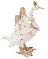 """Декоративная фигура """"Лебедь и фея""""  30 см"""