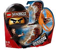 Конструктор детский спиннинг NINJA BELA Мастер аэроджицу Летающий ниндзя Коул - Повелитель дракона