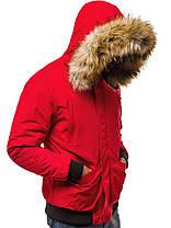 Куртка мужская демисезонная с мехом , фото 3