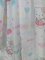 Детская тюль в комнату Kitty