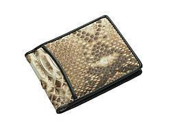 Зажим для денег из кожи питона Ekzotic Leather Бежевый (snc01_1)