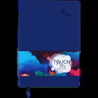 Блокнот деловой TOUCH ME А5, 96л., линия, обложка искуственная кожа, фиолетовый