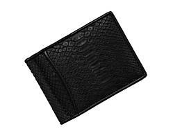 Затиск для грошей зі шкіри пітона Ekzotic Leather Чорний (snc01_2)