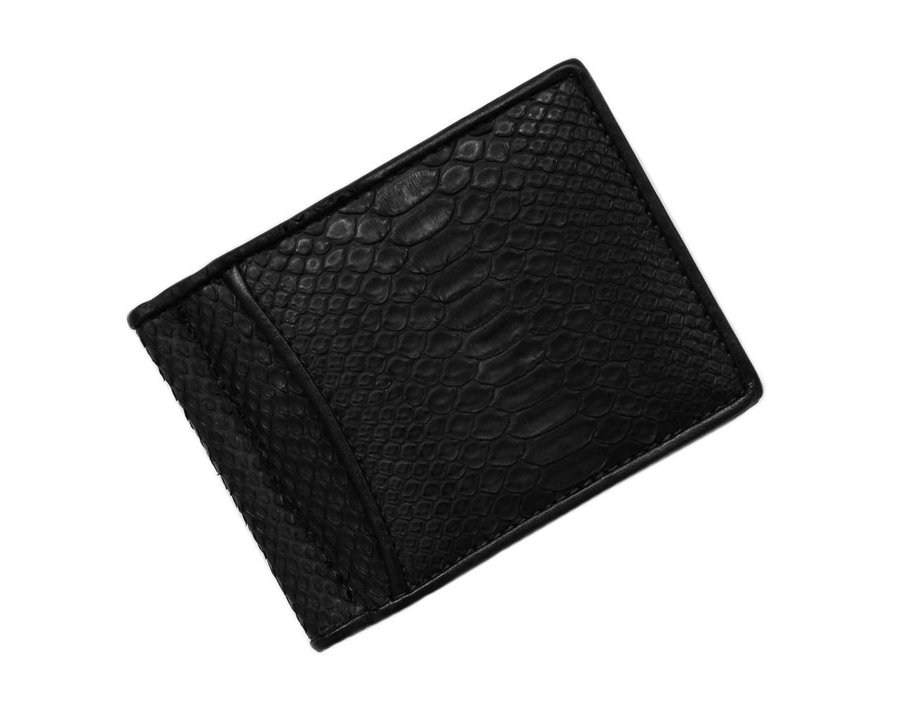 Зажим для денег из кожи питона Ekzotic Leather Черный (snc01_2)
