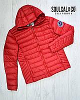 Мужская подростковая куртка SoulCal размер М соулкол Оригинал демисезонная весна осень красная