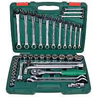 Набор инструментов Hans из торцевых головок 1/2'' и комбинированных ключей 8-32 мм TK-42