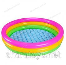 Мини бассейн детский с мягким дном круглый