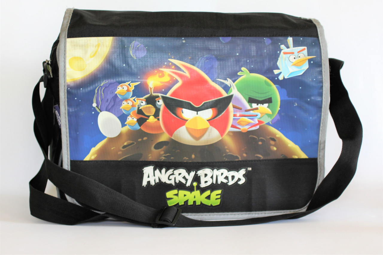 Сумка-почтальон для девочек с рисунком Angry Birds