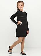 Платье черное с узорами