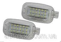 Штатная LED подсветка двери,салона,багажника Mercedes W164 W169 C197 W204 S212 W212