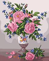Картина по номерам Изысканные розы (KH3023) 40 х 50 см Идейка