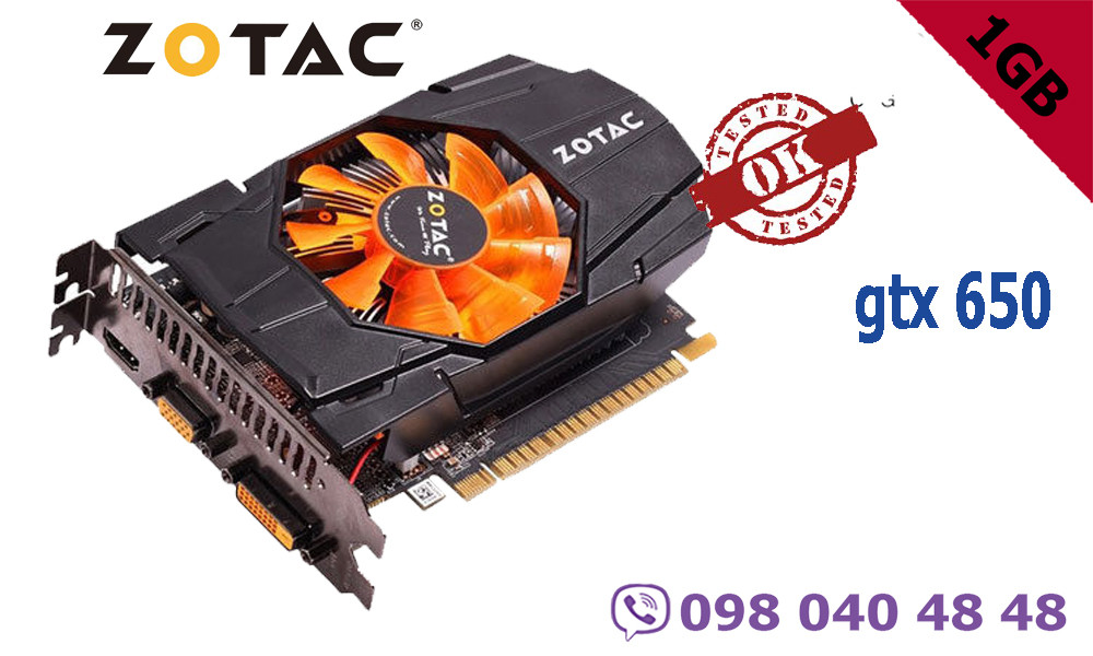 Видеокарта zotac GTX 650 1gb 128 bit
