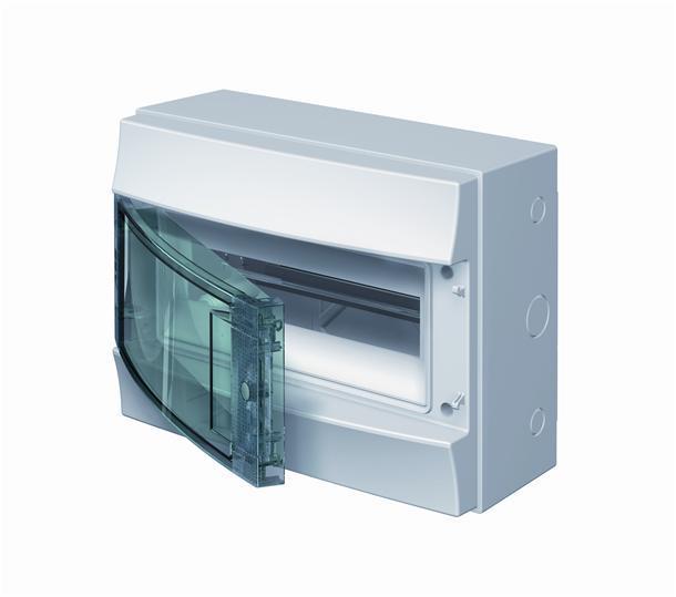 Навесной шкаф ABB Mistral на 12 модулей, прозрачные дверцы, IP65 1SL1202A00