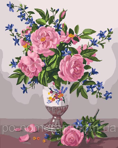 Раскраска для взрослых Изысканные розы (KHO3023) 40 х 50 ...