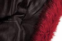 Мех дубленочный Тоскана черный с красным мехом