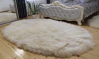 Коврик из овечьих шкур ОВАЛ 260х170, белый