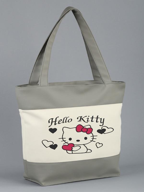 143051009fb5 Сумка Hello Kitty с сердечками Серо-белый - Интернет-магазин недорогих  товаров в Киеве
