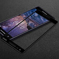 Защитное стекло Nokia 2.1 / 2 2018 Full cover черный 0,26мм в упаковке