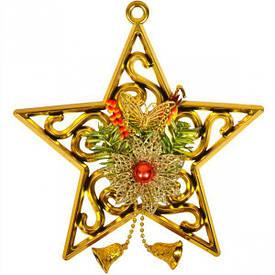 Украшение «Звезда» золотая 24 см