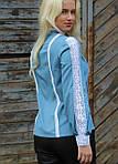 Белая батистовая блуза с красивым кружевом под старинку, фото 4