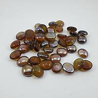 Стеклянные камни Марблс прозрачные коричневые, 200 грамм, фото 1