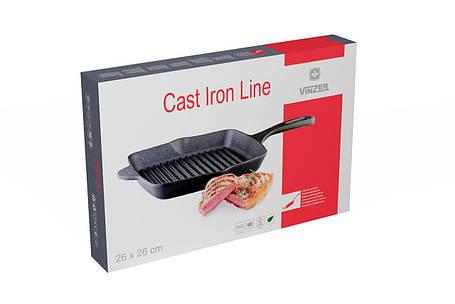 Сковорода-гриль Cast Iron 26x26 см Vinzer 89521, фото 2