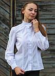 Белая батистовая блуза с красивым кружевом под старинку, фото 2