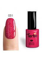 Гель-лак Tertio №51 приглушенный розово-вишневый с микроблестками 10 мл