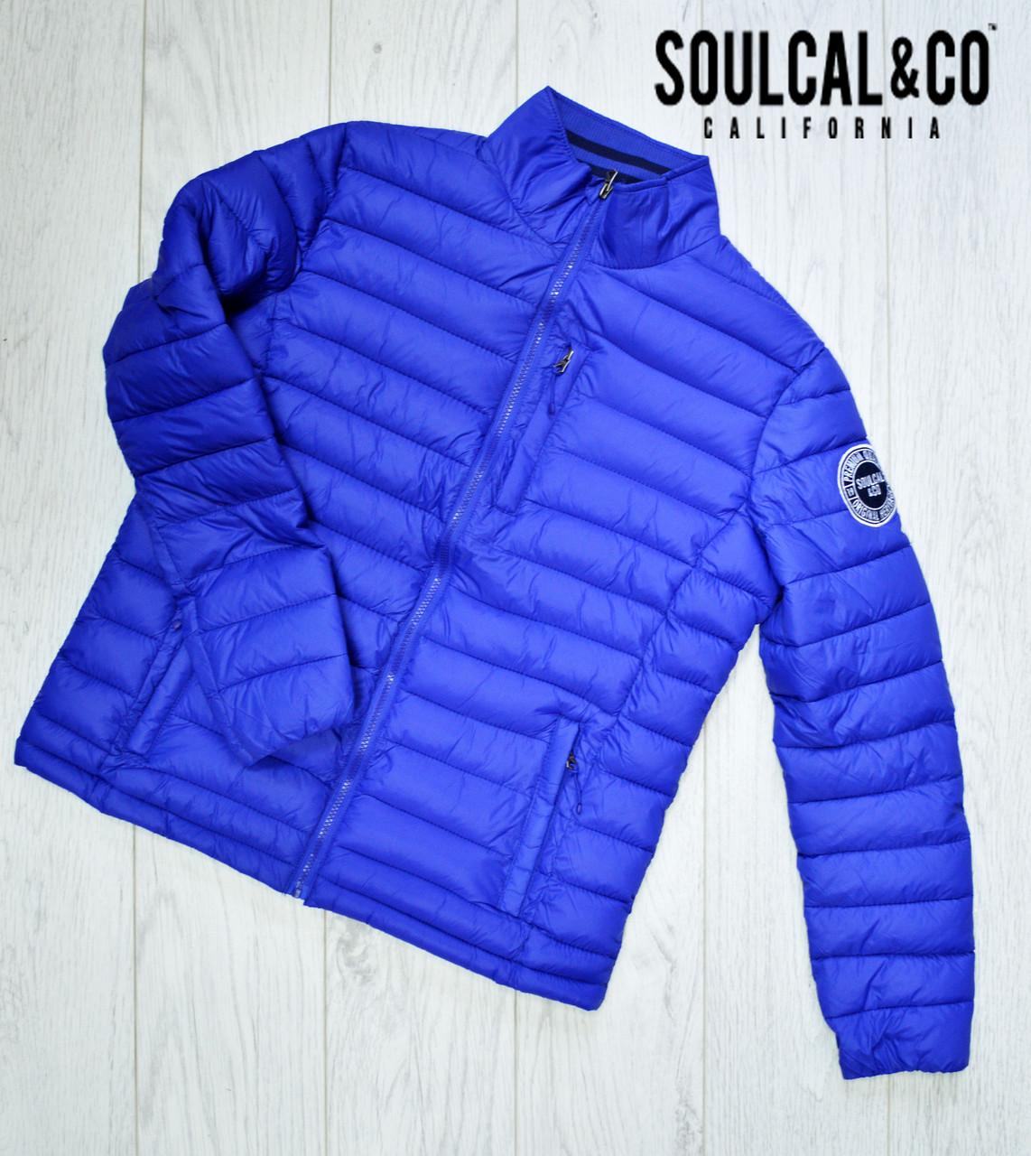 Мужская куртка SoulCal соулкол  Оригинал демисезонная весна осень синяя размер М