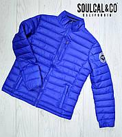 Мужская куртка SoulCal соулкол  Оригинал демисезонная весна осень синяя размер М, фото 1