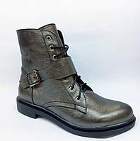 Ботинки осенне-весенние из натуральной кожи спереди шнуровка и ремешок Код  1806 AR 340fd6217e5