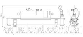 Електронагрівач Elecro FLOW Line 15кВт c титановими тенами і корпусом з нержавіючої сталі 400V, фото 2