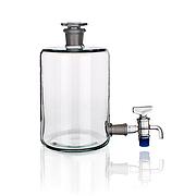 Бутыль Вульфа с нижним краном со шлифом 2500 мл, стекло