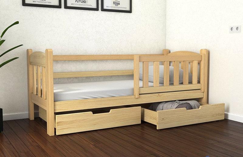 Кровать односпальная детская, подростковая деревянная Элли ТМ Луна
