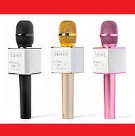Микрофон Q9 портативный караоке с динамиком  и чехлом, фото 1