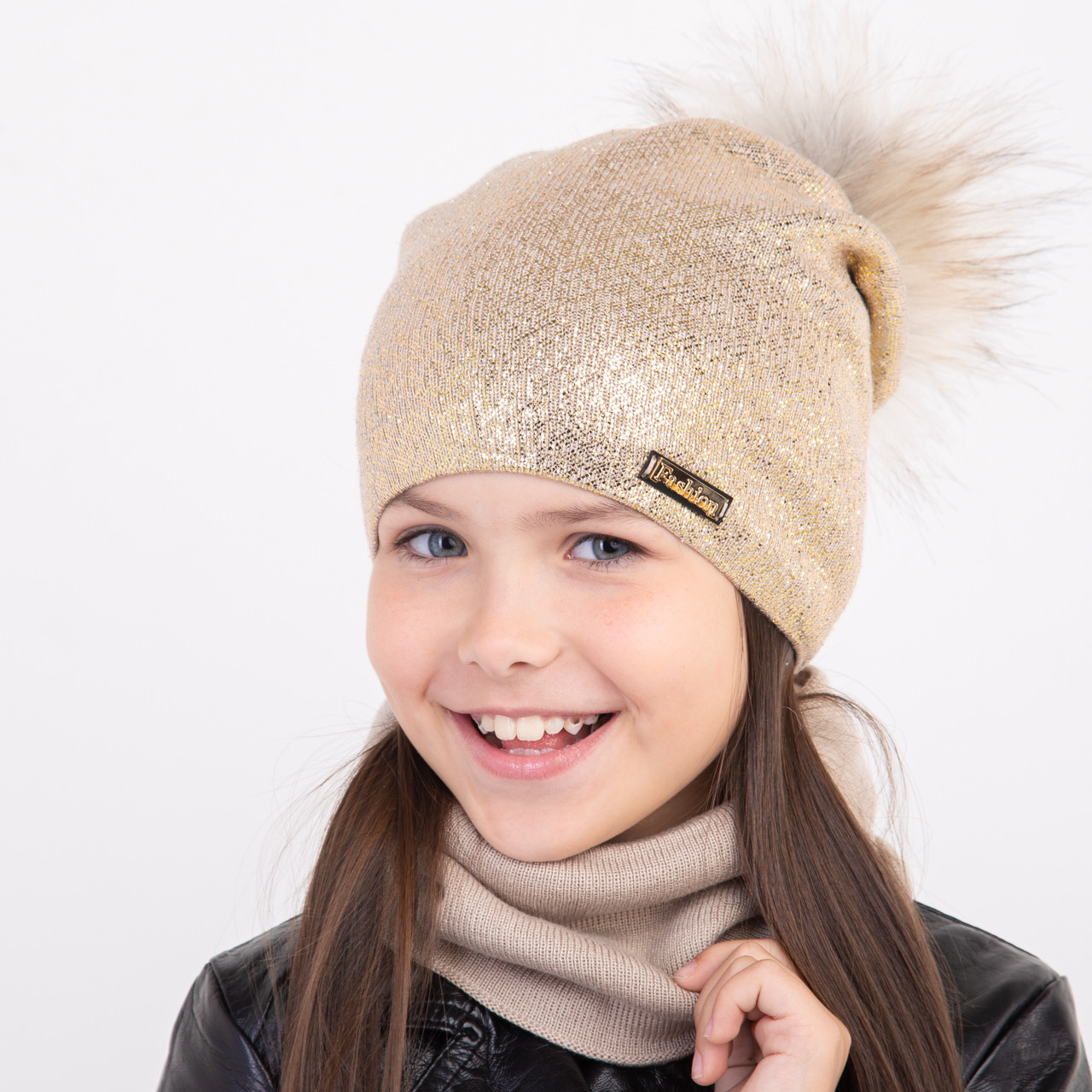 Модный комплект для девочки на зиму оптом - Артикул 2359