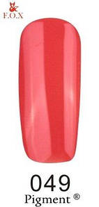 Гель-лак F.O.X. 6 мл Pigment 049 персиково красный, эмаль