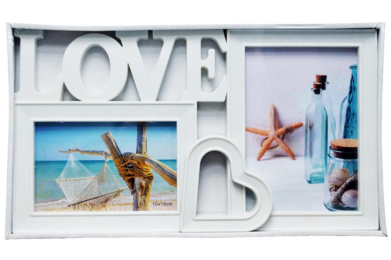 """Мультирамка """"LOVE""""  — Фоторамка коллаж на стену"""