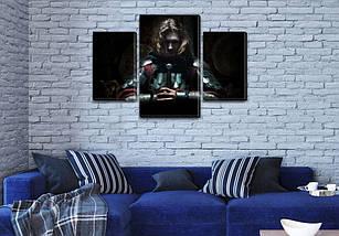 Картина модульная Рыцарь на Холсте, 80х120 см, (55x35-2/80x45), фото 3