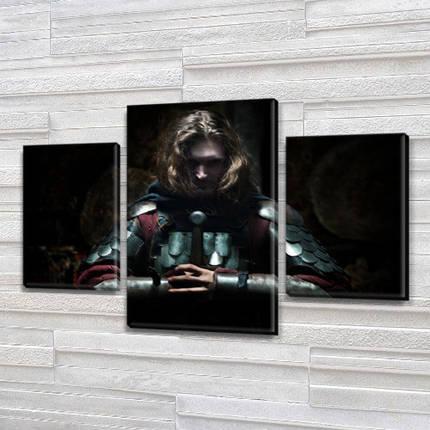 Картина модульная Рыцарь на Холсте, 80х120 см, (55x35-2/80x45), фото 2