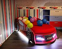 Кровать машина Ауди красная Mebelkon