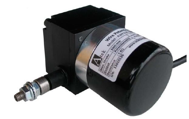 Тросовый потенциометрический датчик серии AWP 110, малогабаритный, трос из нержавеющей стали