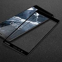 Защитное стекло Nokia 5.1 / 5 2018 Full cover черный 0,26мм в упаковке