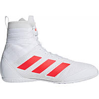 Боксёрки Adidas Speedex 18 белые, обувь для бокса Адидас