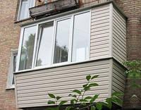 Наружная отделка балкона-сайдинг