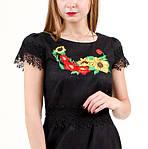 Женское платье из льна с вышивкой и кружевом, фото 3