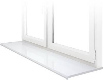 Подоконник Данке Белый глянцевый Lucido Bianco глубиной 100 мм
