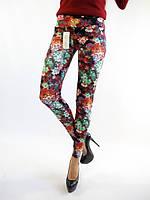 Модные женские лосины с цветочным принтом