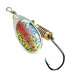 Блешня-вертушка DAM Effzett Natural With Single Hook 4г (rainbow trout)